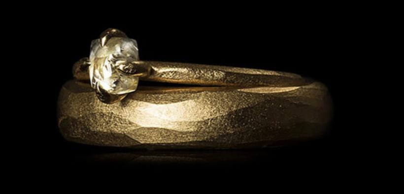 Rå diamant ring